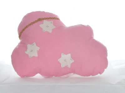 Handmade decorative pillow white and pink Cloud