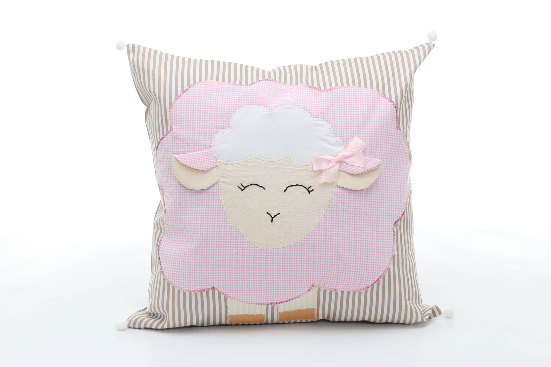 Handmade decorative pillow Pink Sheep