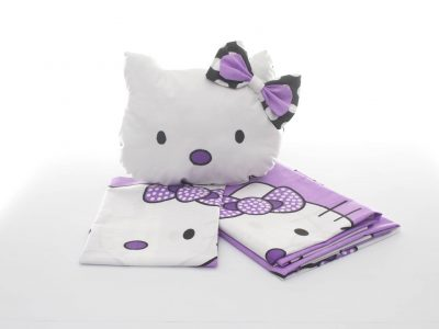 Cotton bed linen, Hello Kitty and Hello Kitty decorative pillow