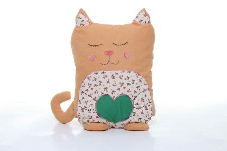 Pernă decorativă handmade Pisica Somnoroasa