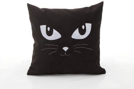 Perna decorativa handmade Pisică neagră