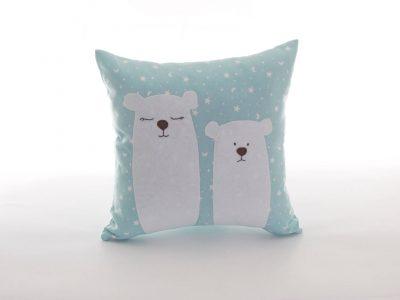 Pernă-decorativă-handmade-turqoise-cu-urşi-polari-Bowema
