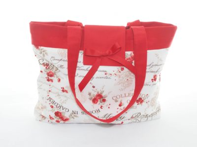 Geantă handmade Red roses