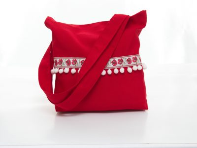 Geantă handmade Red mood