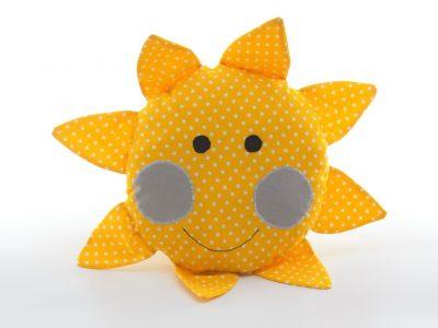 Pernă decorativă handmade Sol în formă de soare Bowema