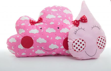 Set de perne decorative handmade Pink Rain Bowema