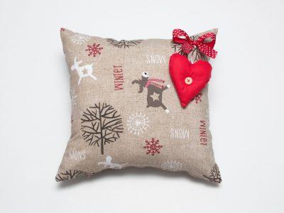 Pernă decorativă handmade Christmas Feel, 40x40 cm