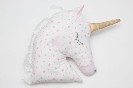 Perna decoarativa handmade Pink Stars