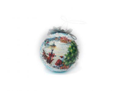 Glob pentru brad White Christmas Bowema