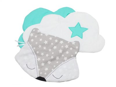 Protectie laterala pentru pat bebe Norisori pufosi