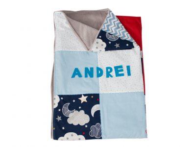 Paturica handmade pentru bebelusi -Andrei