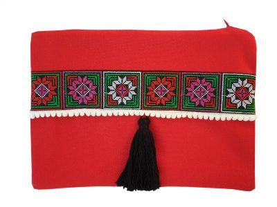 Geanta plic handmade Rosie cu motive traditionale