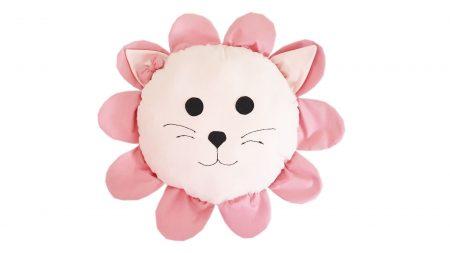 Pernă decorativă handmade Pink Lion
