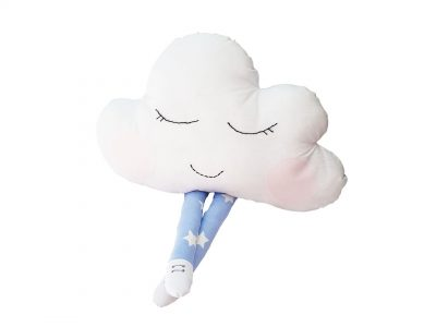 Perna decorativa handmade Blue Cloud
