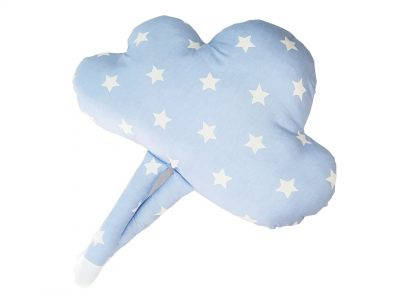 Perna decorativa handmade Blue Cloud spate