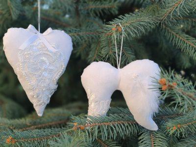 Ornamente handmade Pure white