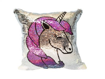 Perna decorativa Unicorn cu paiete reversibile 2