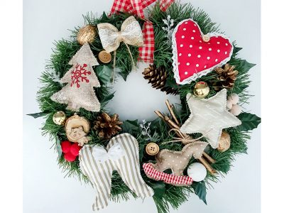 Coronita decorativa handmade Cheistmas Feel