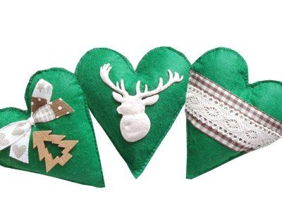 Set ornamente handmade pentru Brad Rustic 1
