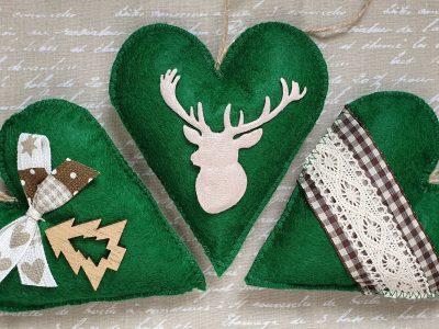 Set ornamente handmade pentru Brad Rustic
