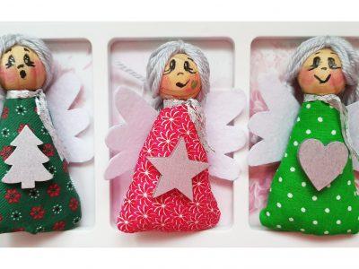 Set ornamente pentru Craciun - Ingerasi canand