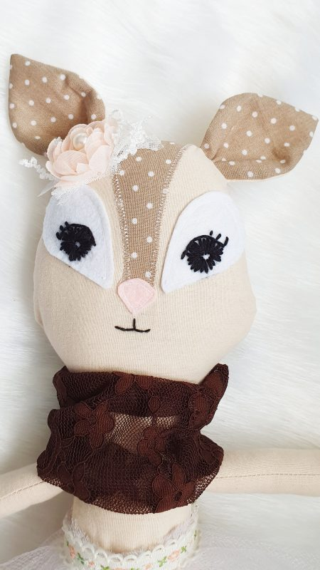Papusa handmade Caprioara