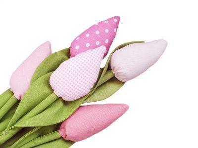 Lalele handmade - Buchet Roz
