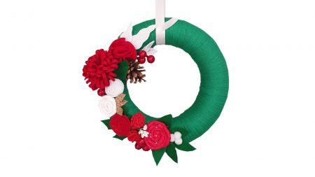 Coronita decorativa pentru usa - Craciun
