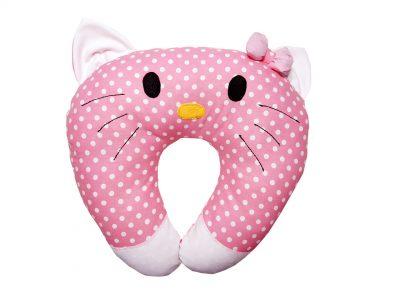 Pernă handmade pentru calatorie Pisica