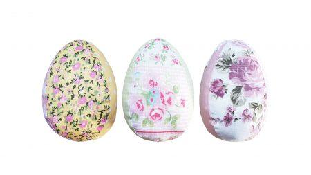 Oua de Paste textile cu flori